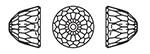 Swarovski 5542 Small Dome Bead Crystal 8mm