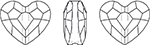 Swarovski 5741 Love Bead Crystal 12mm