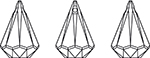 Swarovski 6022 Xirius Raindrop Pendant Crystal 33x22mm