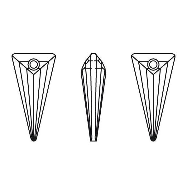 Swarovski 6480 Spike Pendant Crystal 28mm