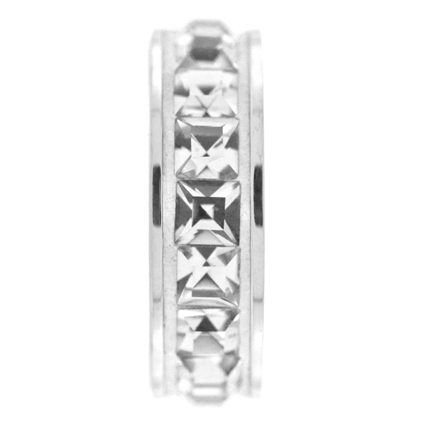 Swarovski 81001 13mm BeCharmed Pave Stopper Crystal/Silver