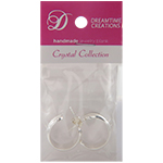 Channel Hoops Earrings, Silver Overlay