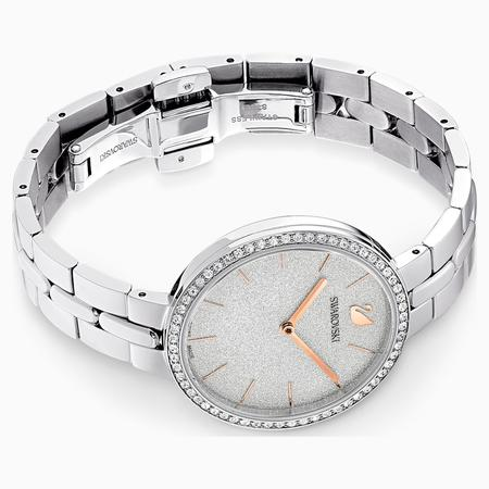 Swarovski Collections Cosmopolitan Watch, Metal Bracelet, White, Stainless Steel