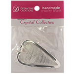 DW Lipped Long Heart Pendant, Silver Overlay