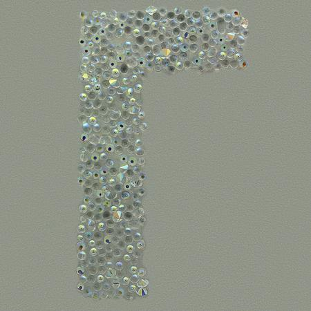 Swarovski Sticker Greek Letter Gamma, 25mm Height
