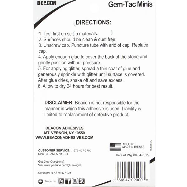 Gem-Tac Minis, 6 Precision Tip Tubes