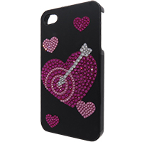 Hearts Template for Phone Case for iPhone 4/4S for use with Flat Backs