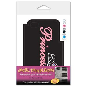 Princess Template for Phone Case for iPhone 4/4S for use with Flat Backs