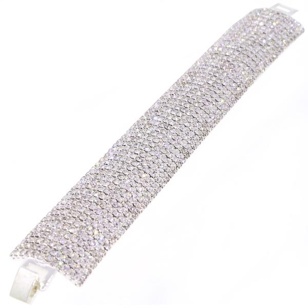 12 Row Tennis Bracelet, Crystal/Silver