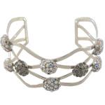 Open Weave Cuff Bracelet with 8mm Flat Spots