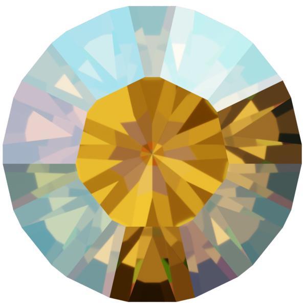 Swarovski 1028 XILION Chaton Light Topaz Shimmer PP13