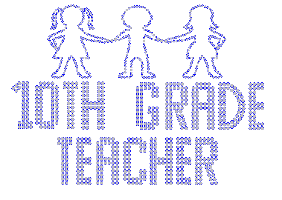 Iron On Transfer - TENTH GRADE TEACHER