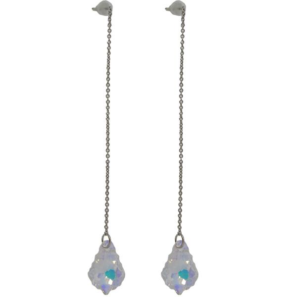 Earrings featuring fancy stone from Swarovski