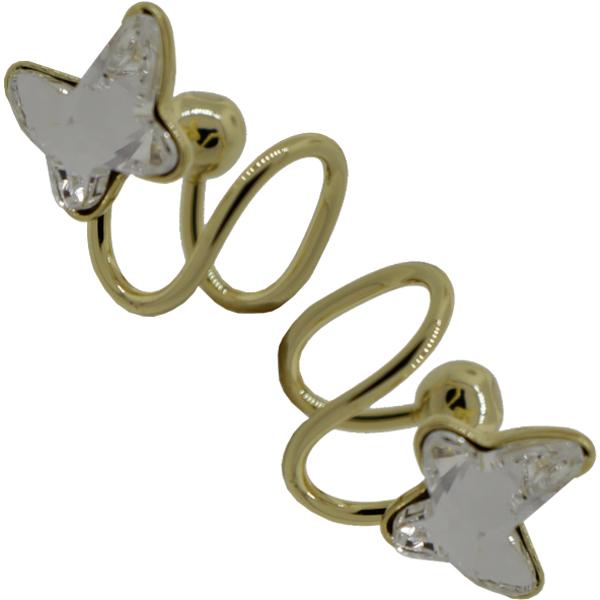 Earrings featuring Crystal butterfly fancy stone from Swarovski
