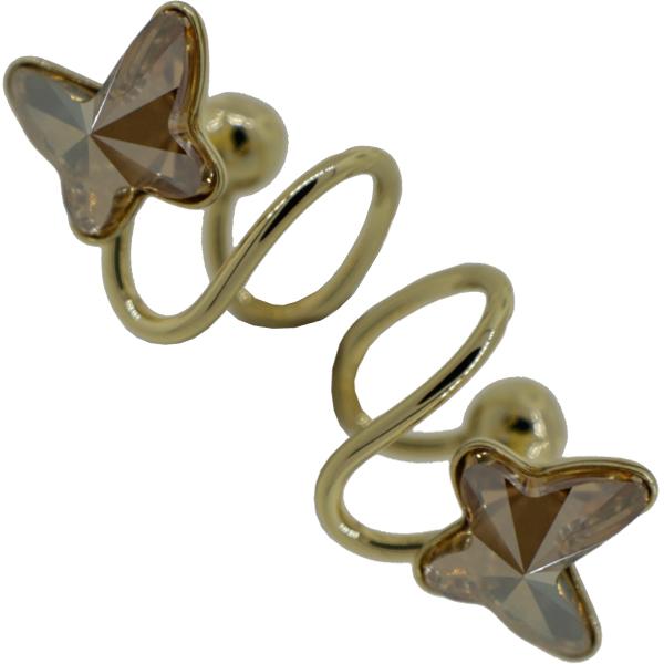 Earrings featuring Light Colorado Topaz butterfly fancy stone from Swarovski