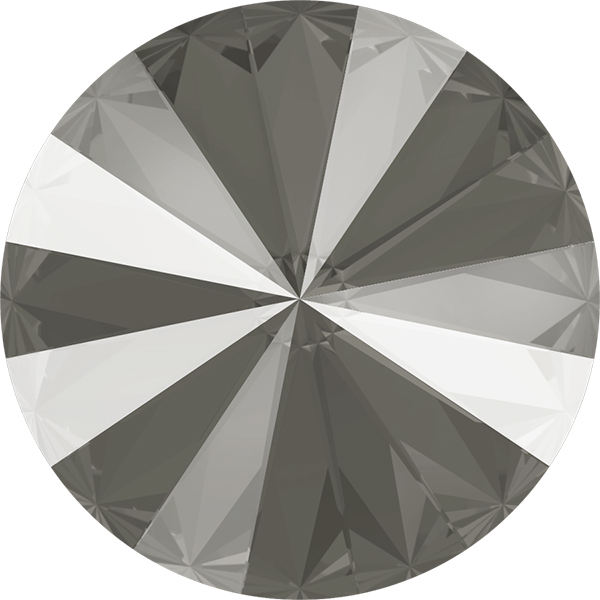 Swarovski 1122 Rivoli Round Stone Crystal Dark Grey 14mm