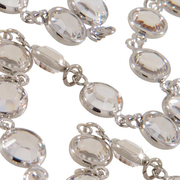Swarovski 1128 Bead Chain, Jewelry Chain 29ss Crystal/Silver (Rhodium)