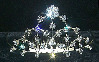 Flower Tiara Comb