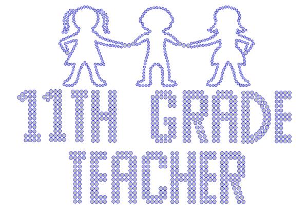 Iron On Transfer - ELEVENTH GRADE TEACHER