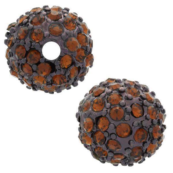 Beadelle® Pave Crystal Bead Chocolate/Smoked Topaz 10mm