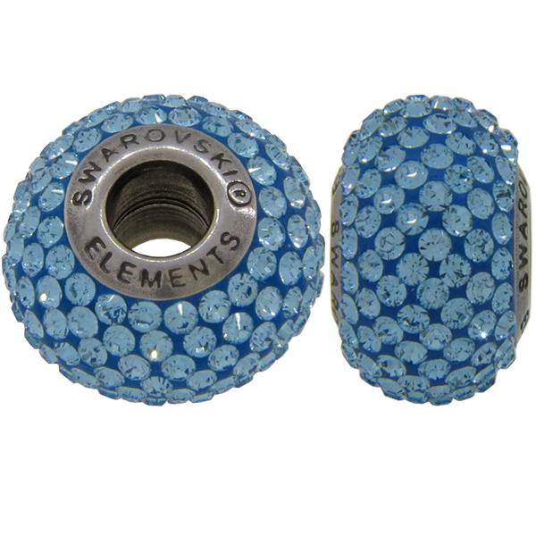 Swarovski 180101 BeCharmed Pave Beads 14mm Aquamarine