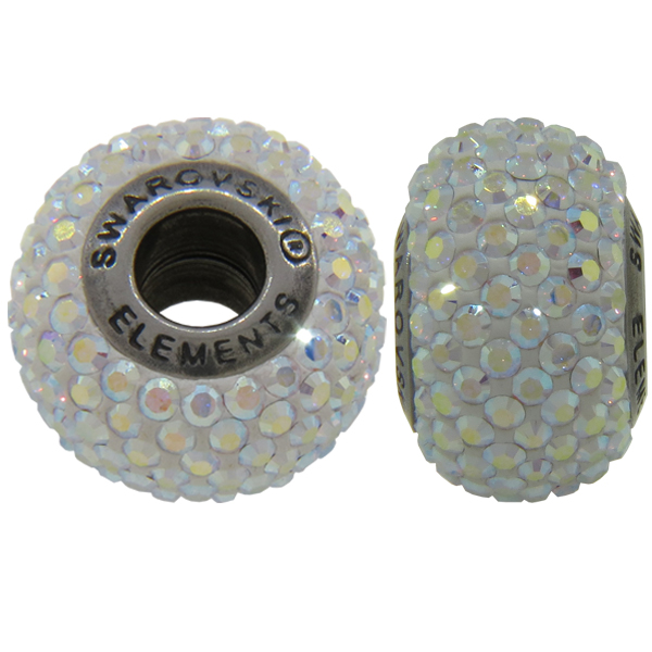 Swarovski 180101 BeCharmed Pave Beads 14mm Crystal AB