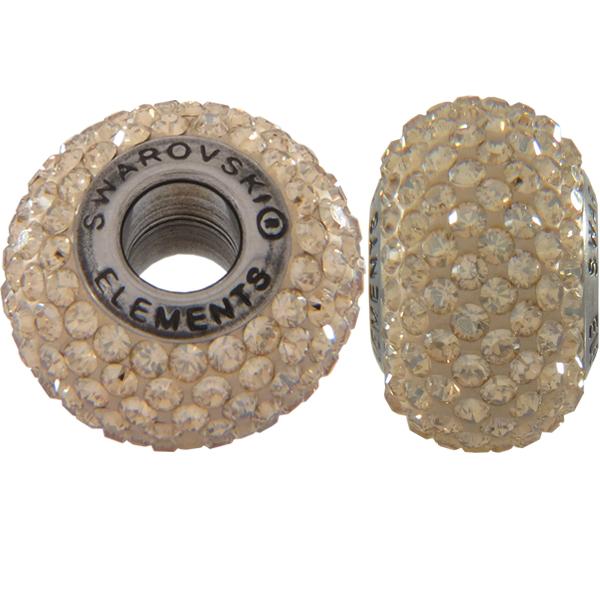 Swarovski 180101 BeCharmed Pave Beads 14mm Golden Shadow