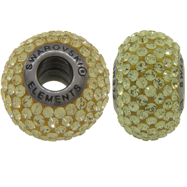Swarovski 180101 BeCharmed Pave Beads 14mm Jonquil