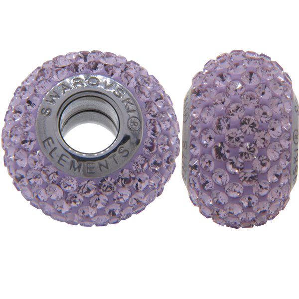 Swarovski 180101 BeCharmed Pave Beads 14mm Light Amethyst