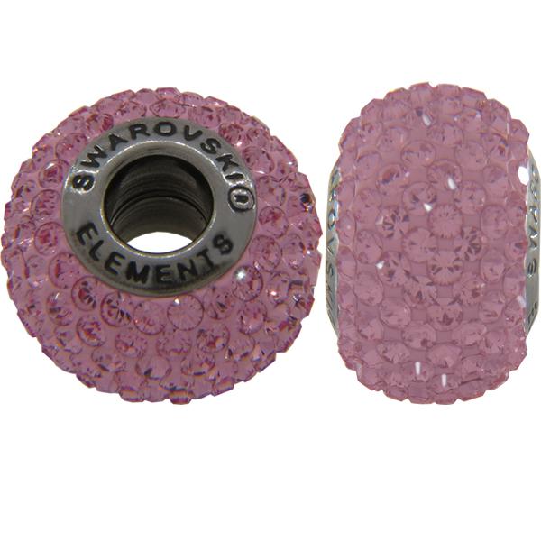 Swarovski 180101 BeCharmed Pave Beads 14mm Light Rose