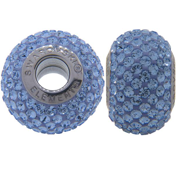 Swarovski 180101 BeCharmed Pave Beads 14mm Light Sapphire