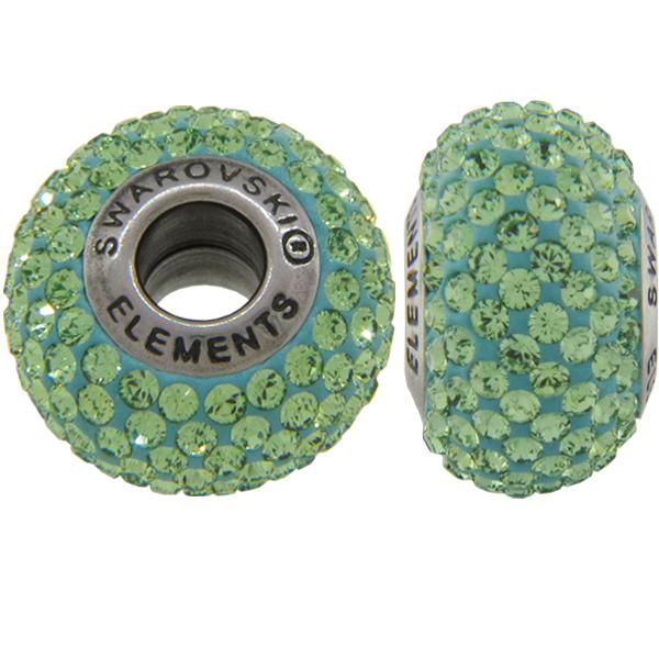 Swarovski 180101 BeCharmed Pave Beads 14mm Peridot