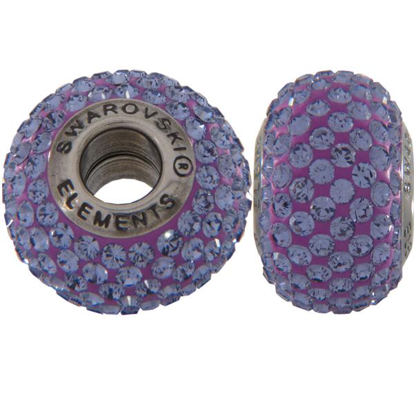 Swarovski 180101 BeCharmed Pave Beads 14mm Tanzanite