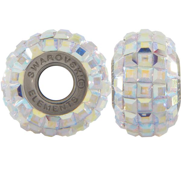 Swarovski 180201 BeCharmed Pave Beads 14mm Crystal AB