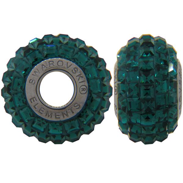 Swarovski 180201 BeCharmed Pave Beads 14mm Emerald