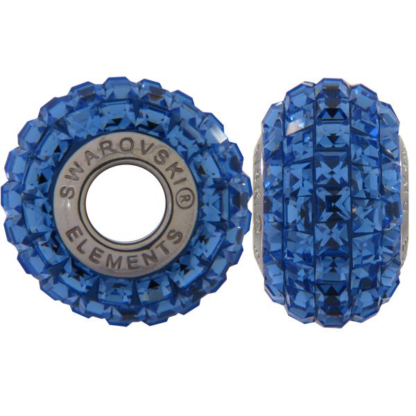 Swarovski 180201 BeCharmed Pave Beads 14mm Sapphire