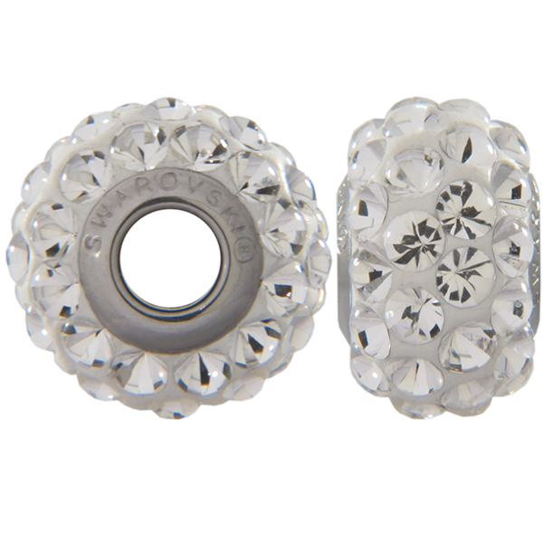 Swarovski 180501 BeCharmed Pave Beads 15.5mm Crystal