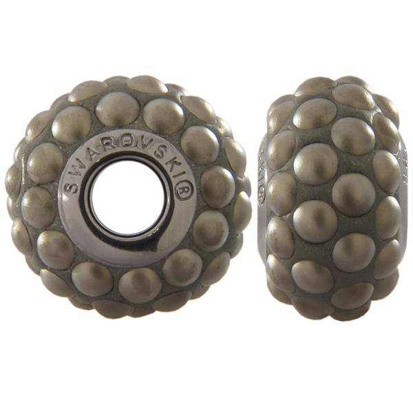 Swarovski 180501 BeCharmed Pave Beads 15.5mm Crystal Metallic Light Gold Matte Finish
