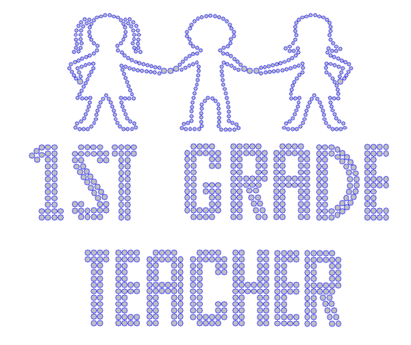 Iron On Transfer - FIRST GRADE TEACHER