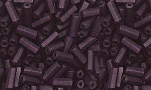 Dark Amethyst TR Matte Bugle Beads #2