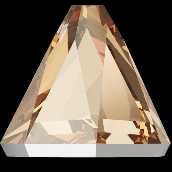 Swarovski 2019 Round Spike Flat Back Crystal Golden Shadow 4mm