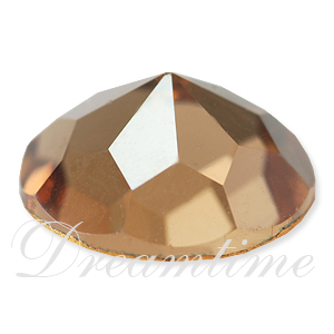Swarovski 2020 Rauten Rose Flat Back Light Smoked Topaz 9mm