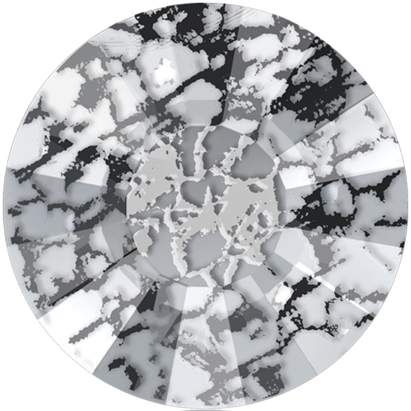 Swarovski 2034 Concise Hotfix Crystal Black Patina SS48