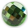 Swarovski 2035 Chessboard Circle Hotfix Peridot 6mm