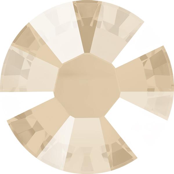 Swarovski 2038 XILION Rose Hotfix Crystal Ivory Cream (Hotfix Transparent) SS10