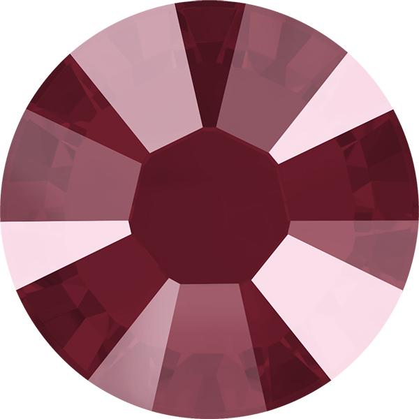 Swarovski 2038 XILION Rose Hotfix Crystal Dark Red (Hotfix Transparent) SS10