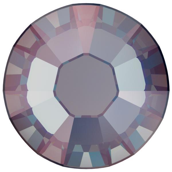 Swarovski 2038 XILION Rose Hotfix Crystal Royal Blue DeLite  (Hotfix Transparent) SS10