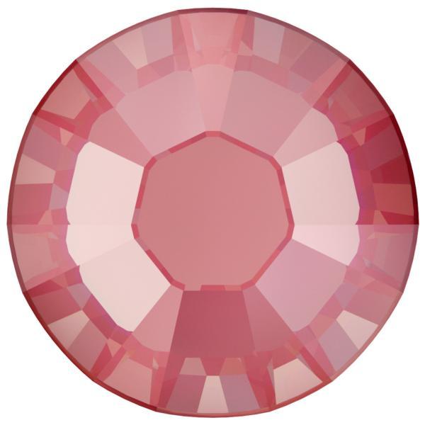 Swarovski 2038 XILION Rose Hotfix Crystal Lotus Pink DeLite  (Hotfix Transparent) SS10