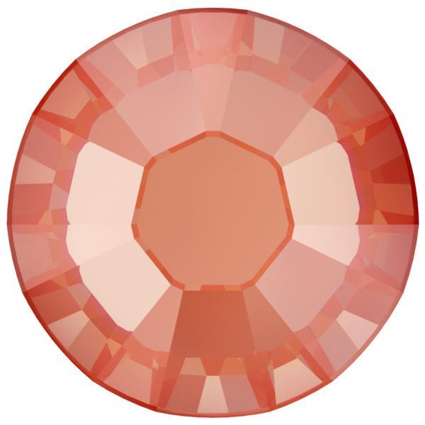 Swarovski 2038 XILION Rose Hotfix Crystal Orange Glow DeLite  (Hotfix Transparent) SS10