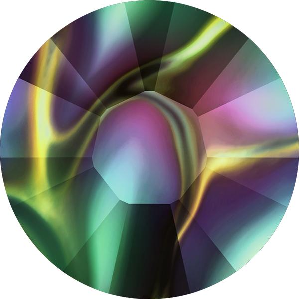 Swarovski 2038 XILION Rose Hotfix Crystal Rainbow Dark SS6